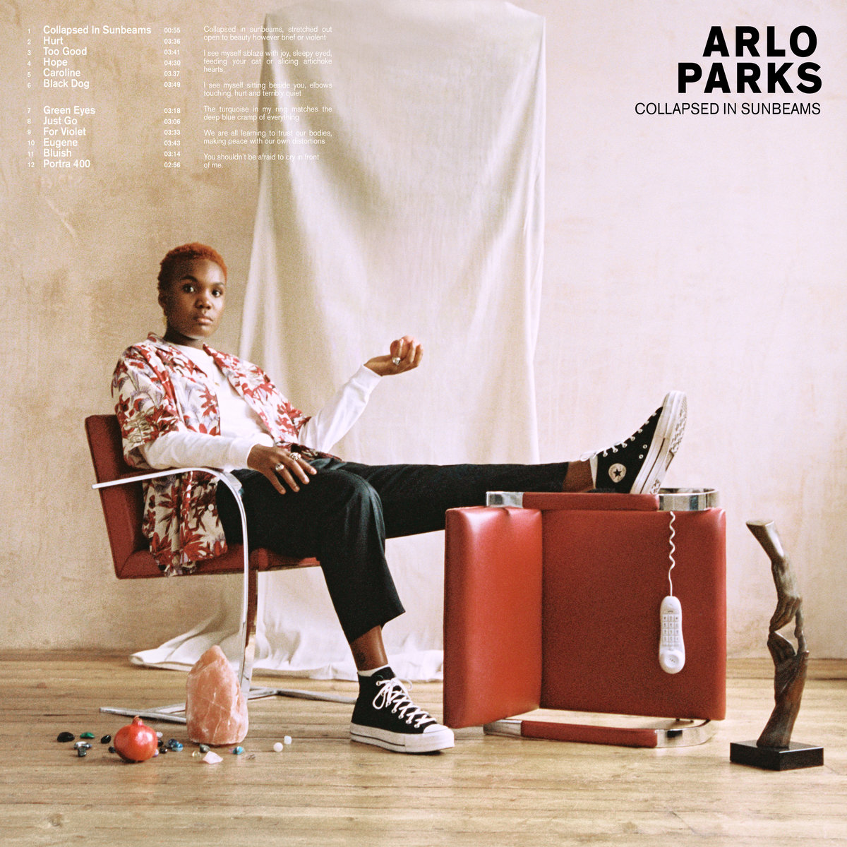 Album cover art for Collapsed in Sunbeams by Arlo Park